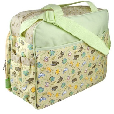 Sesame Street Animal Zoo Large Shoulder Baby Diaper Bag with Changing Pad