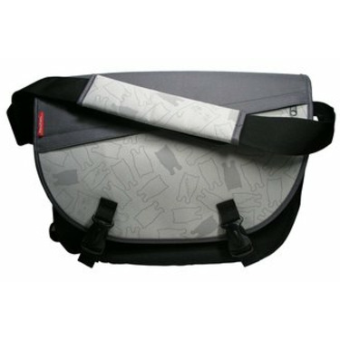 Grey Cat Messenger Bag (Grey)