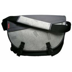 Grey Cat Messenger Bag (Grey)