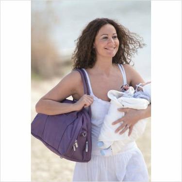 Lassig Shoulder Eco-Friendly Diaper Bag, Glam Lavender