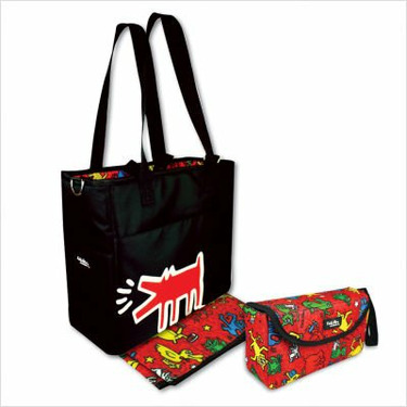 Grande Diaper Bag and Clutch Set in Keith Haring Animal