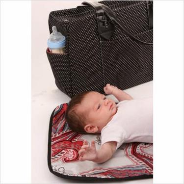 Leila Baby Bag in Black / White Polka Dot