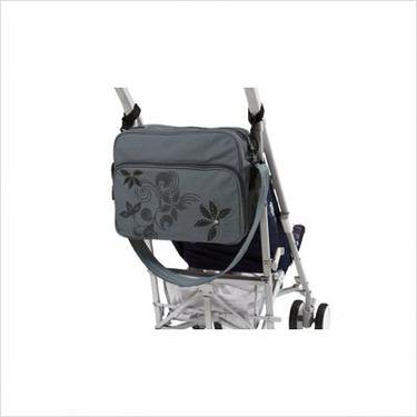 Lassig Vintage Squarebag Eco-Friendly Diaper Bag, Stones Grey