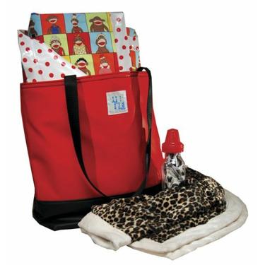 Shower Diaper Bag Red Unisex