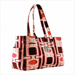 Pink Geo Everything Tote Diaper Bag