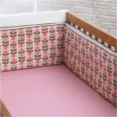 Vine Floral Crib Bedding Set