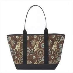 Large Tote Bag Fabric: Guava Stripe