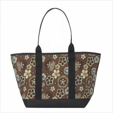 Large Tote Bag Fabric: Chocolate Posie