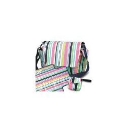 Navy Stripe Diaper Bag