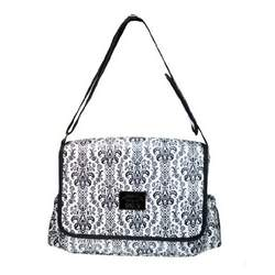 Damask Black & White Baby Bag by Two Lumps of Sugar