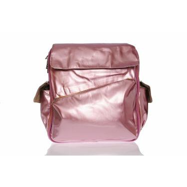 Baby Bee Bags Fabian Shiny Pink Designer Diaper Bag