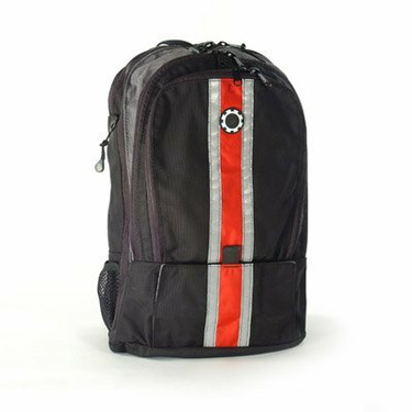 DadGear Diaper Bags - Center Stripe Red Backpack - DAD051-1