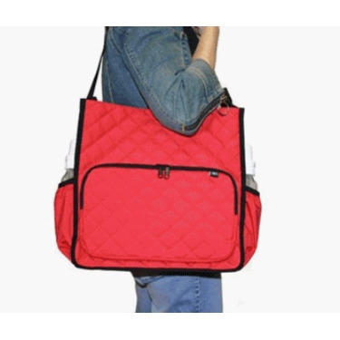 Tote'n Stroll Quilted Diaper Bag- Red