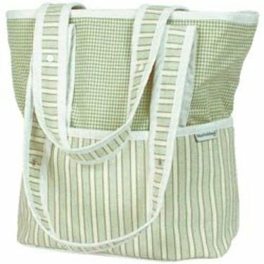 Sherbert Tote Diaper Bag - Color Celery