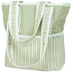 Sherbert Tote Diaper Bag - Color Celery