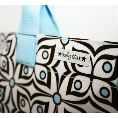 Rock the Tote Diaper Bag in Flutter Blue