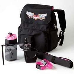 Black Trendy Designer Baby Backpack Diaper Bag - Great Congratulations or Shower Gift Idea for New Moms
