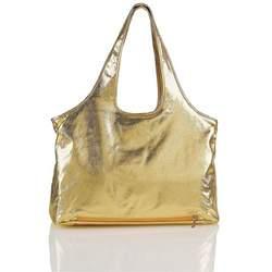 Elegant Baby Diaper Bag - Metallic Silver