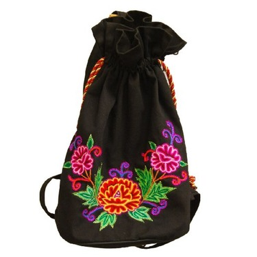 Hand Made Velour Flowered Bag Tote