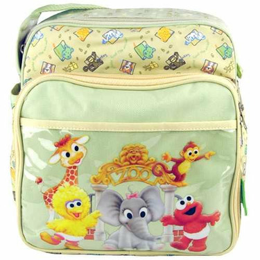 Sesame Street Mini Baby Diaper Bag with Waterproof Lining and Multiple Compartments