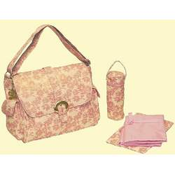 A Step Above Buckle Diaper Bag in Pink Sugar & Spice