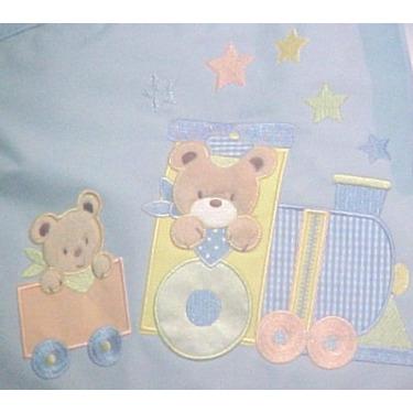 A.d.sutton Tender Kisses Light Blue 2 Piece Stroller Diaper Bag