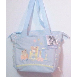 A.d.sutton Tender Kisses Light Blue 2 Piece Stroller Diaper Bag
