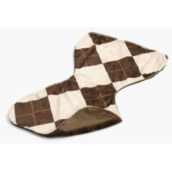 Gentle Kids wear Bbc - An - B Baby Burp Cloth - Argyle Almond and Brown