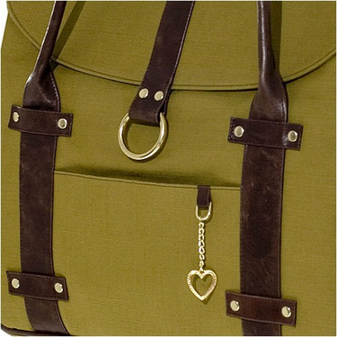Olive Canvas Chic Diaper Bag