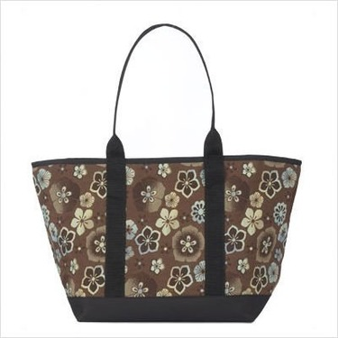 Large Tote Bag Fabric: Madras Orange