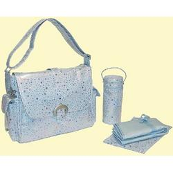 A Step Above Buckle Diaper Bag in Blue Soap Bubbles