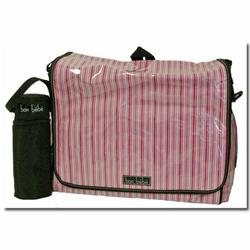 Bon Bebe Girls Pink Stripes Diaper Bag