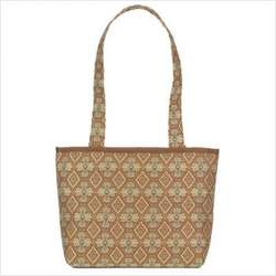 Small Tote Bag Fabric: Madras Orange