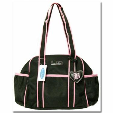 Bon Bebe Black and Pink Shoulder Diaper Bag