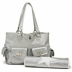 Cargo Diaper Bag in Silver