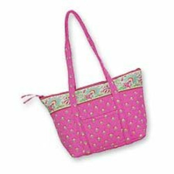 Womens Quilted Tote Purse Bag - Quilt Keeepers