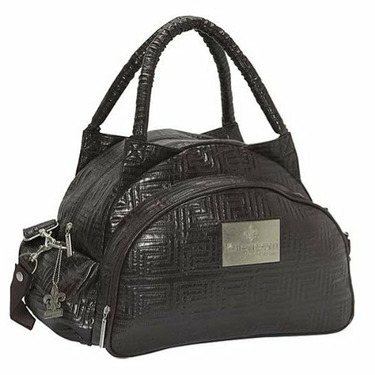 Quilted Traveler Diaper Bag in Chocolate
