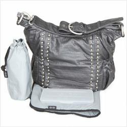 Hobo Sack Diaper Bag in Silver