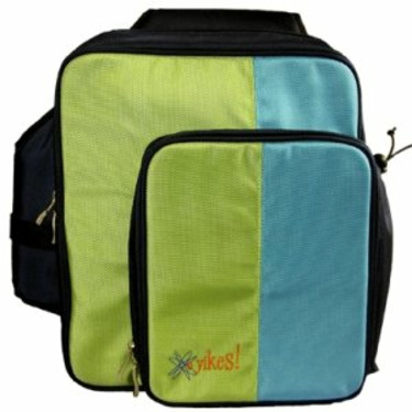 O Yikes Slingback Diaper Bag - Blueberry/ Key Lime