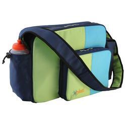 O Yikes Messenger Diaper Bag - Blueberry/ Key Lime