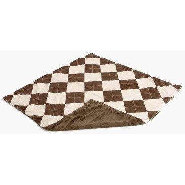 Gentle Kids wear Mnb - An-B Mini-Blanket - Argyle Almond and Brown