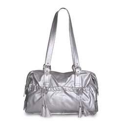 Shanti Metallic Diaper Bag by Baby Kaed - SILVER