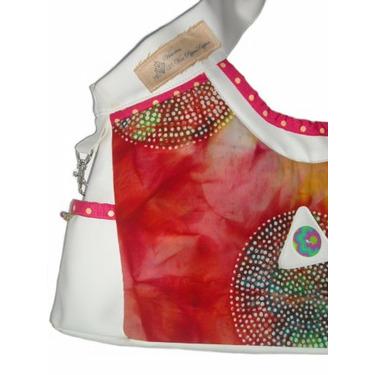 STRAWBERRY FIELDS batik dye diaper bag by Victorien Von Pippepuppen