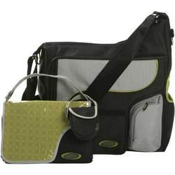 JJ Cole System Bag - Graphite/Green