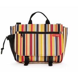 Saddlebag Diaper Bag in Uptown Stripes