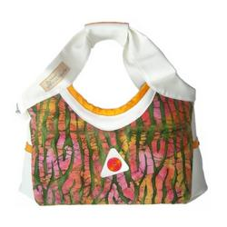 YELLOW SUBMARINE batik dye diaper bag by Victorien Von Pippenpuppen