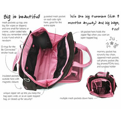 Ju Ju Be - Be Prepared Diaper Bag in Brown Bubblegum