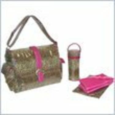 Kalencom Laminated Buckle Bag - Leopard - Fuschia