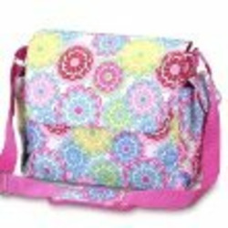 Line Flower Diaper Bag