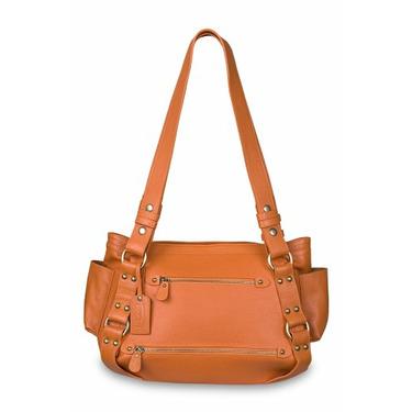 Baby Kaed - B-kaed Leather Jaipur Diaper Bag in Tangerine